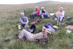 Taking a break in the baking heat just over the border in England, Halterburn Valley