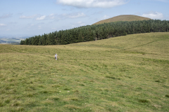 One large and two smaller square bank and ditch enclosures on the plateau on the English side above the Halterburn Valley, probably for managing cattle or sheep.