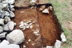 TRIAL TRENCH IN NORSE HOUSE DUDDON VALLEY