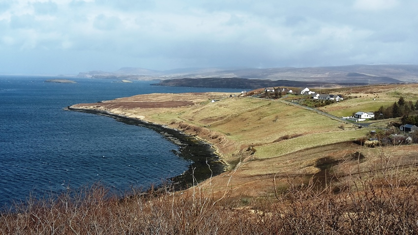 Kildonan view of red survey area